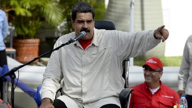 الرئيس الفنزويلي نيكولاس مادورو، 1 اكتوبر 2016 (FEDERICO PARRA / AFP)