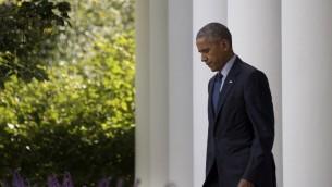 الرئيس الامريكي باراك اوباما في البيت الابيض، 5 اكتوبر 2016 (AFP Photo/Jim Watson)