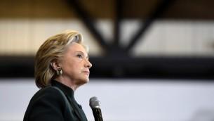 هيلاري كلينتون في كليفلاند، 22 اكتوبر 2016 (ROBYN BECK / AFP)