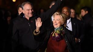 المرشحة الديمقراطية للرئاسة الامريكية هيلاري كلينتون في فيلادلفيا، 22 اكتوبر 2016 (AFP/Robyn Beck)