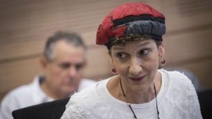 عضو الكنيست شولي معلم رفائيلي من حزب البيت اليهودي في الكنيست، 16 اغسطس 2016 (Hadas Parush/Flash90)