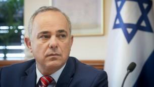 وزير الطاقة يوفال شتاينز خلال اجتماع الحكومة الاسبوعي في القدس، 27 سبتمبر 2016 (Marc Israel Sellem/POOL)
