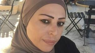 هويدا شوا، 45 عاما، من سكان مدينة يافا، التي تم العثور على جثتها مع آثار عنف عليها في سيارة في وسط الضفة الغربية، 23 أكتوبر، 2016.(Courtesy)