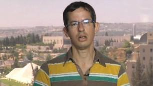 مدير منظمة 'بتسيلم' حاغاي إل-عاد (لقطة شاشة: YouTube)