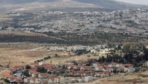 حي جديد في مستوطنة تقوع، جنوبي القدس (Nati Shohat/Flash90)