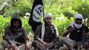 فيديو تجنيد لتنظيم الدولة الإسلامية يدعو للانضمام للجهاد (screen capture: Youtube)