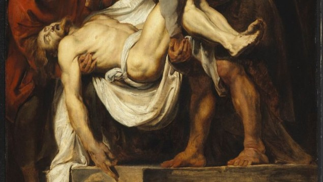 لوحة لبيتر بول روبينز: الوضع في القبر (1611-1612)، المعرض الوطني في كندا. (Wikimedia)