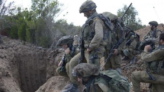 صورة توضيحية: فتحة نفق تم اكتشافها من قبل الجيش الإسرائيلي في غزة، 20 يوليو، 2014. (IDF)
