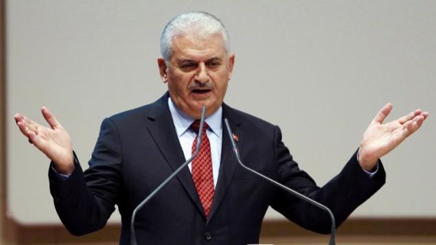 رئيس الوزراء التركي بن علي يلدريم، 16 نوفمبر 2016 (ADEM ALTAN / AFP)