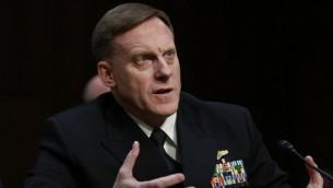 الاميرال مايكل روجرز رئيس وكالة الامن القومي الامريكي في واشنطن، 5 ابريل 2016 (YURI GRIPAS / AFP)