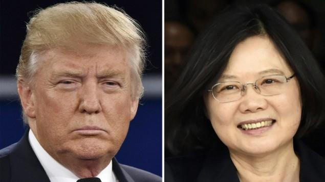 الرئيس الامريكي المنتخب دونالد ترامب (يسار) ورئيسة تايوان تساي اينغ-وين (STAFF / AFP)