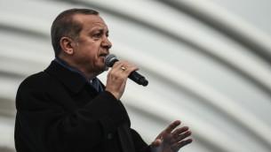 الرئيس التركي رجب طيب اردوغان في اسطنبول، 20 ديسمبر 2016 (OZAN KOSE / AFP)
