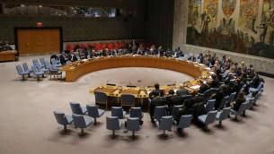 اجتماع مجلس الامن الدولي في مقر الامم المتحدة في نيويورك، 31 ديسمبر 2016 (AFP/Kena Betancur)