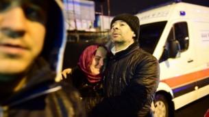 موقع هجوم احتفالات راس السنة الجديدة 1 يناير 2017 في اسطنبول YASIN AKGUL / AFP