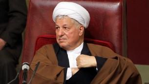 الرئيس الايراني الاسبق اكبر هاشمي رفسنجاني، 8 مارس 2011 (ATTA KENARE / AFP)