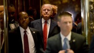 الرئيس المنتخب دونالد ترامب في برج ترامب في نيويورك، 9 يناير 2017 (AFP PHOTO / TIMOTHY A. CLARY)