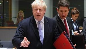 وزير الخارجية البريطاني بوريس جونسون خلال اجتماع لوزراء خارجية دول الاتحاد الاوروبي في بروكسل، 16 يناير 2017 (EMMANUEL DUNAND / AFP)