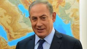 رئيس الوزراء بينيامين نتنياهو يلتقي بالرئيس التنفيذي لشركة 'أبلايد ماتيريالز'، غاري ديكرسون(لا يظهر في الصورة) في مكتب رئيس الوزراء في القدس، 23 يناير، 2017. (Kobi Gideon / GPO