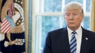 الرئيس الامريكي دونالد ترامب في المكتب البيضاوي في البيت الابيض، 9 فبراير 2017 (AFP/ SAUL LOEB)