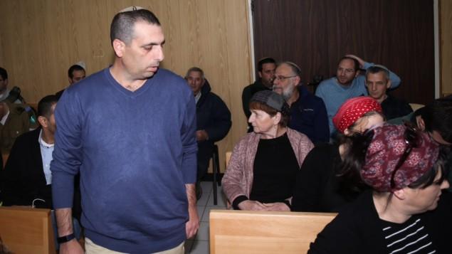 اوفيك بوخريس يصل المحكمة العسكرية، 2 فبراير 2017 (Flash90)