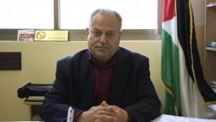 رئيس بلدية سلواد عبد الرحمن صالح (Dov Lieber/Times of Israel)