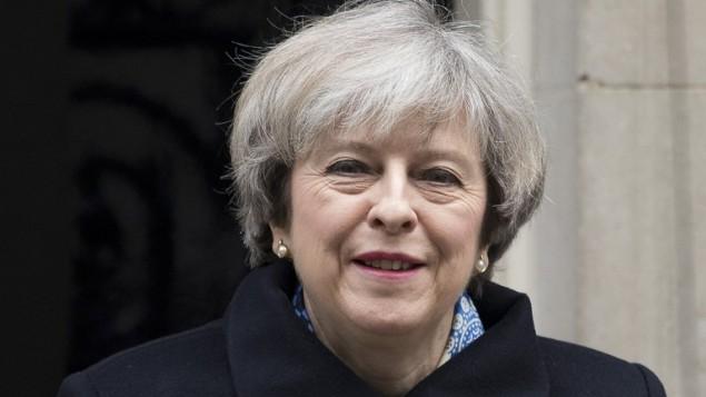 رئيسة الوزراء البريطانية تيريزا ماي، 1 مارس 2017 (JUSTIN TALLIS / AFP)