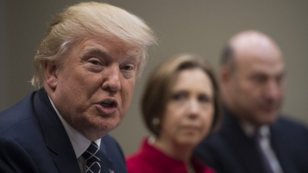 الرئيس الامريكي دونالد ترامب في واشنطن، 9 مارس 2017 (AFP/JIM WATSON)