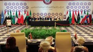 لقاء تهيئي لوزراء خارجية الدول الاعضاء في الجامعة العربية خلال قمة الجامعة في الطرف الاردني للبحر الميت 27 مارس 2017 (Ahmad Abdo/AFP)