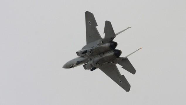 طائرة  F-15I إسرائيلية. (Tsahi Ben-Ami/Flash 90)