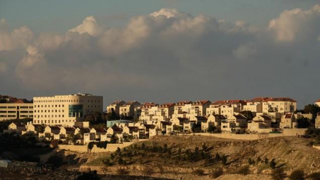 صور لمستوطنة معالية أدوميم الإسرائيلية في الضفة الغربية، 4 يناير، 2017. (Yaniv Nadav/Flash90)