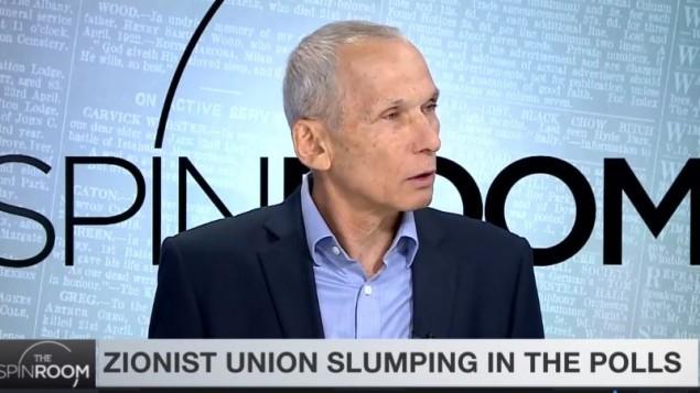 عومر بار ليف (المعسكر الصهيوني) خلال مقابلة مع قناة i24، 12 مارس 2017 (Screen capture/i24News)