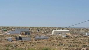 مستوطنة جديدة يتم بناؤها بالقرب من مستوطنة ادام، شرقي مدينة رام الله في الضفة الغربية، كما تظهر في صورة التُقطت في 19 أبريل، 2017. (courtesy/ Peace Now)