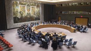 اجتماع لمجلس الامن الدولي، 20 ابريل 2017 (UN/Rick Bajornas)