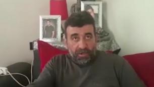 والد الشاب اللبناني الذي تسلل إلى داهل إسرائيل يدلي بمقابلة لقناة تلفزيونية لبنانية (screen capture)