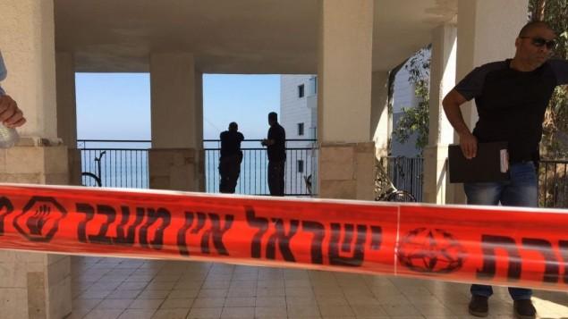 صورة توضيحية لعناصر الشرطة في موقع جريمة (Police spokesperson)