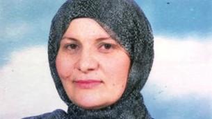 هناء خطيب، التي أصبحت أول قاضية في المحاكم الإسلامية الشرعية في إسرائيل في 25 أبريل، 2017. (Justice Ministry)