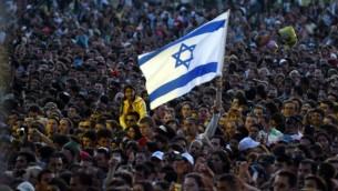 صورة توضيحية لحشد إسرائيلي. (Roni Schutzer/Flash90)