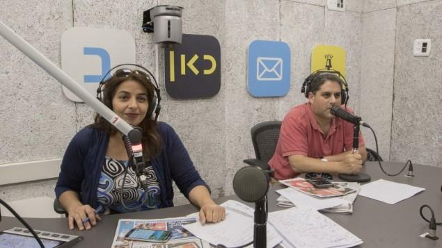 غرفة البث في سلطة البث الإسرائيلية الجديدة، 14 مايو 2017 (Yossi Aloni/Kan)