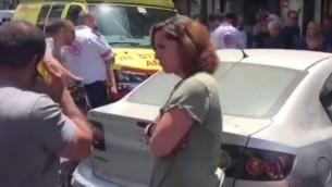 حادث طرق في تل أبيب قبل ساعة من وصول الرئيس الأمريكي دونالد ترامب إلى إسرائيل أثار مخاوف وقوع هجوم قبل أن تؤكد الشرطة أنه حادث طرق. (YouTube screenshot)