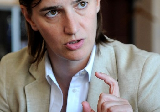 آنا برنابيتش، رئيسة حكومة صربيا الجديدة، 25 اغسطس 2016 (OLIVER BUNIC / AFP)