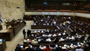 تصويت في الكنيست حول ميزانية الدولة لعامي 2017-2018، 21 ديسمبر 2016 (Yonatan Sindel /Flash90)