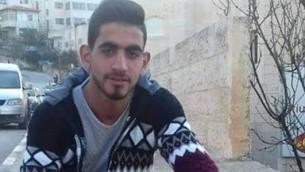 عمر العبد (19 عاما) منفذ الهجوم في مستوطنة حلميش في 21 يوليو، 2017. (Facebook photo)