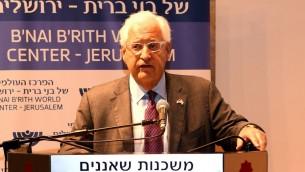 السفير الامريكي الى اسرائيل دافيد فريدمان في القدس، 27 يونيو 2017 (Matty Stern/US Embassy Tel Aviv)