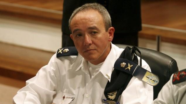العيزر ماروم في عام 2009، عندما كان قائد سلاح البحرية الإسرائيلي (Roni Schutzer/Flash90)