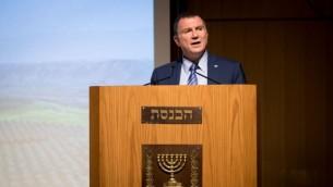 رئيس الكيست يولي إدلشتين يشارك في حدث في الكنيست، القدس، 6 يونيو، 2017. (Yonatan Sindel/Flash90)