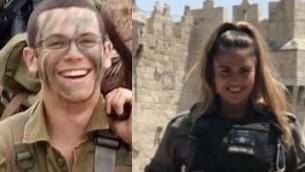 الحاي تهارليف، الذي قُتل في هجوم دهس في 6 ابريل 2017، وهداس مالكا، التي قُتلت في هجوم في 16 يونيو 2017 (Courtesy: IDF spokesperson)