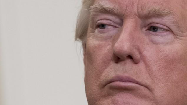 الرئيس الأمريكي دونالد ترامب يدلي بإعلان عن الهجرة في البيت الأبيض في العاصمة واشنطن، 2 أغسطس، 2017. (AFP PHOTO / JIM WATSON)