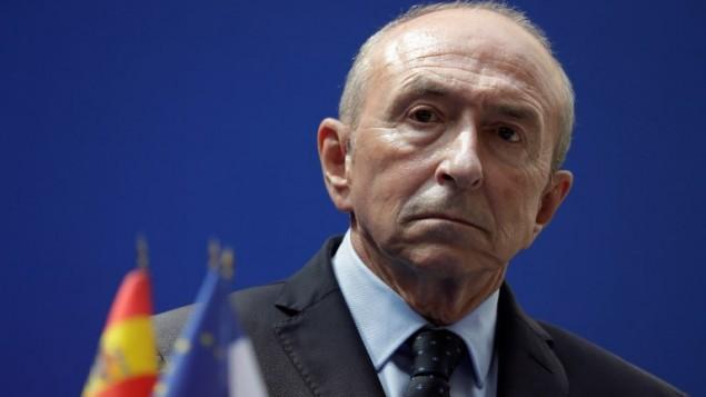 وزير الداخلية الفرنسي جيرار كولومب، 23 اغسطس 2017 (THOMAS SAMSON / AFP)