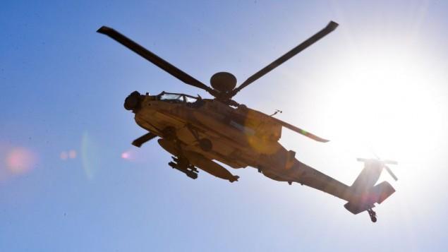 مروحية أباتشي تابعة لسلاح الجو الإسرائيلي (Hagar Amibar/ Israeli Air Force/Flickr)