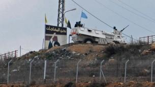 دورية يونيفيل على الحدود الإسرائيلية اللبنانية (Hamad Almakt/Flash90)